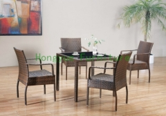 Wicker dining set rattan dining table chairs supplier