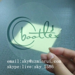 transparent stickers custom printing/Circle Logo Label/outdoor vinyl stickers