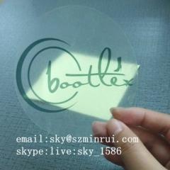Dia 10cm Die Cut Transparent Stickers Custom Printing Logo Permanent Adhesive Circle Outdoor Vinyl Label