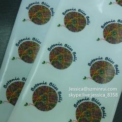 Factory Wholesale Custom Logo Printing Full Color Waterproof Round Self Adhesive Vinyl Clear Plastic Sticker