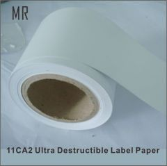 China real manufacturer minrui export Tamper Evident Anti-Counterfeting self adhesive destructible Eggshell sticker