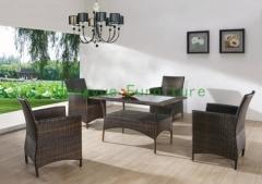 Rattan dining furniture set wicker dining room furniture supplier