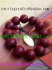 The Africa carved works-red sandalwood buddha beads