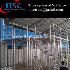 A second floor truss stage system for VIP zone in Angola