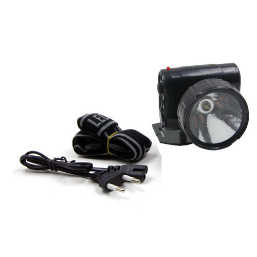 1W plastic rechargeable head lamp