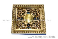 Deodorization style Bathroom Strainer 100*100mm brass Floor Drain manufacturer good performance
