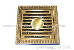 Hot sale 100*100mm 4 inch copper shower drain manufacturer Deodorization style can be customized