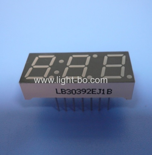 Super green common cathode 3 digit 0.39  7 segment led display for instrument panel