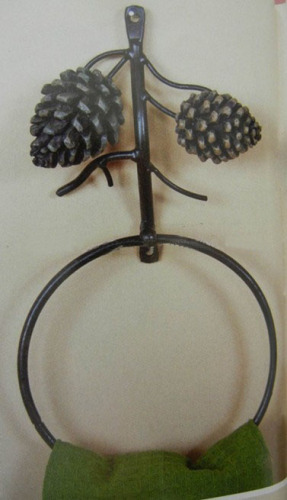 Towel ring for bathroom with cones
