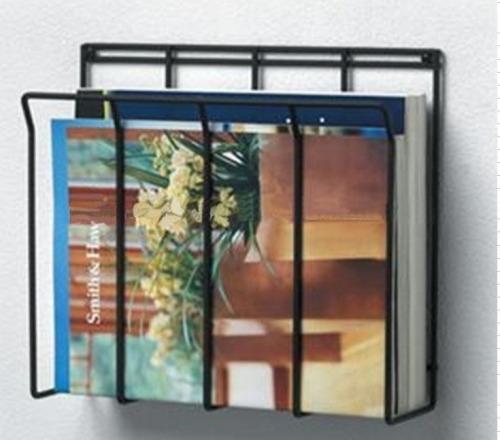 Metal Wall Mount Newspaper rack simple design black color Various Size for choose