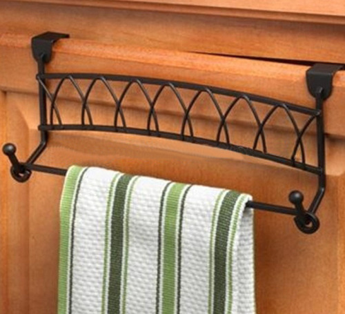 Metal Towel bar for Twist Over Cabinet Door