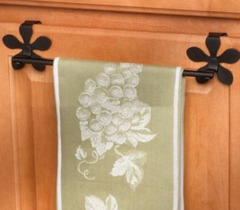 Bar towel with flower shaped hook for Over the Cbinet Door