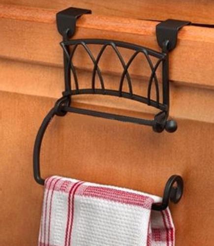 Towel rack for Twist Over Cabinet Door metal material save space design