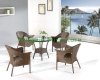 Brown rattan bistro set wicker table chair set furniture
