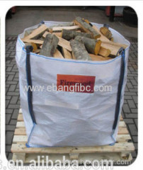 Top full open container bag for firewood and pellets