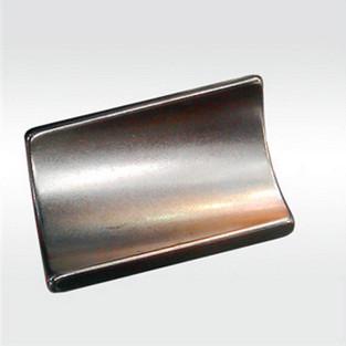 N45 arc ndfeb magnet with nickel coating