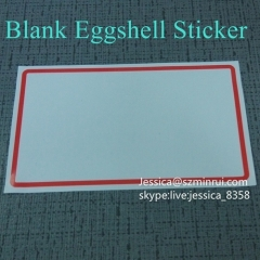 Best Price Destructible Vinyl Labels Eggshell Stickers Blank Sticky Eggshell Sticker Labels Printing For Outdoor Use