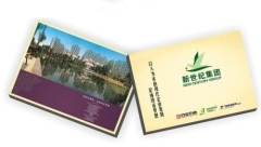 Real estate or property hardcover advertising layflat-bound brochure printing services