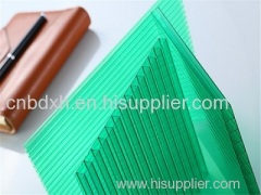 UNQ Colored Polycarbonate Sheet Twin-wall Hollow Roofing sheet