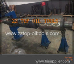 Mechanical setting retrievable packer drill stem testing tools