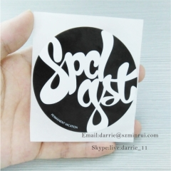 China largest factory of self adhesive destructive label MinRui wholesale round printed white on black Eggshell sticker