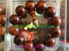 Dark wood Buddha beads-Yellow pear-1