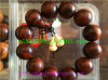 Dark wood Buddha beads-Yellow pear-2