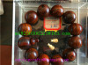Dark wood Buddha beads-Yellow pear-4