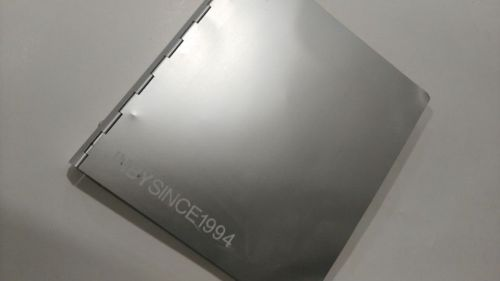 Gloss silver metal cover wire-bound notebook or diary custom printing services for company advertising