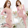 Sexy underwear lady sexy lingerie transparent conjoined dress suit
