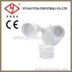 Dual bright led outdoor motion sensor lighting