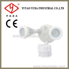 Dual bright led outdoor motion sensor light
