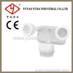 Dual bright led outdoor motion sensor lamp