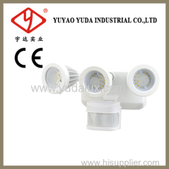Triplehead motion sensor outdoor flood lihgting