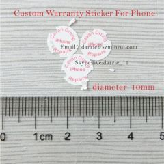 China largest destructible self-adhesive paper manufacturer custom round 10mm diameter warranty screw label for phone