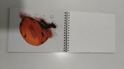 Custom PVC cover wire-bound hardcase book with round rings printing