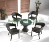 Living room wicker table chair set factory