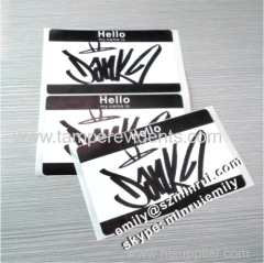 Eggshell Graffiti Sticker Name Tag Badge