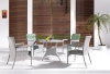 Wicker rattan material table and chairs designs