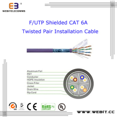 F/UTP Shielded Cat 6A Twisted Pair Installation cable