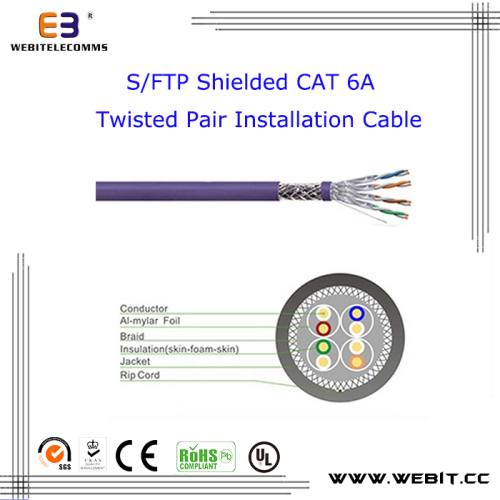 F/FTP Shielded Cat 6A Twisted Pair Installation cable