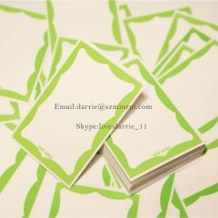 China top producer of destructible self adhesive sticker supply premium quality blank my name is Eggshell sticker
