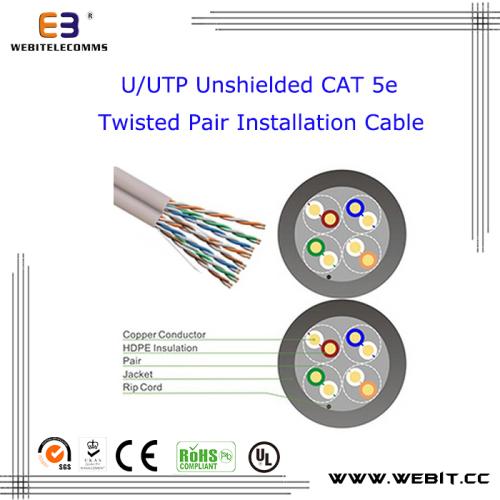 U/UTP unshielded Cat 5e lan cable