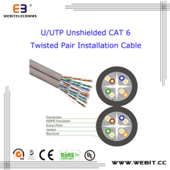 U/UTP unshielded Cat 6 Twisted Pair Installation cable