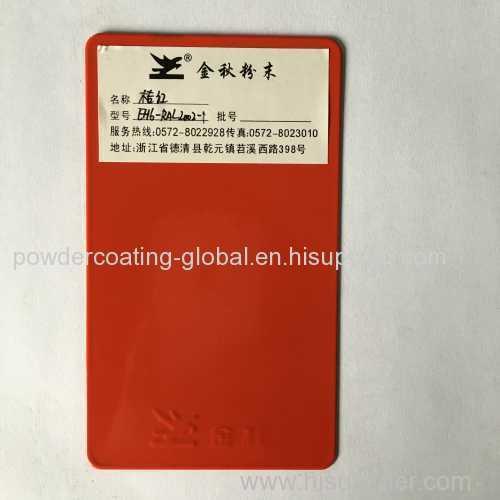 RED epoxy polyester powder coating