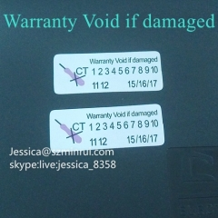 Custom Warranty Sticker Void If Tampered One Time Use Easy Destructible Repair Warranty Security Sticker