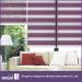Modern Sheer 7-Folded Window Curtain With Hand Control Zebra Blind
