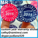 Pantone color round security tag date and month sticker