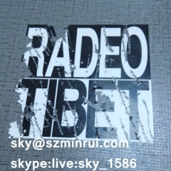 street art graffiti sticker/self adhesive destructive paper/custom stickers