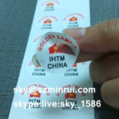 destructible screw void seal stickers/anti tamper stickers/small round warranty void stickers